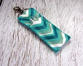 Teal Chevron Lip Balm Holder with funds going to Pediatric Cancer Research