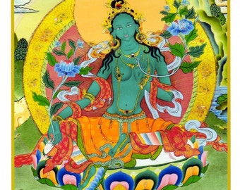 Goddess Green Tara Card