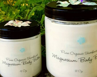Organic Magnesium and Lavender Oil Infused Body Butter Lotion