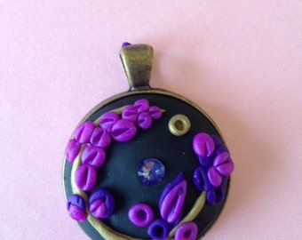 Purple and Gold Pendant