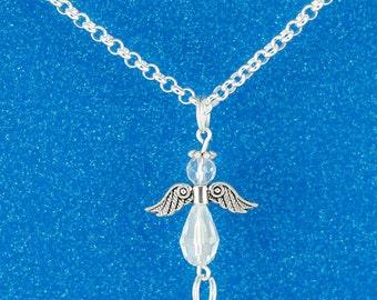 Adorable Interchangeable Angel ID Badge Lanyard Necklace