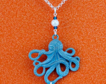 Octopus Interchangeable Silver Lanyard Badge Holder Necklace