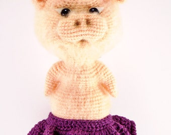 "Pink pig in skirt ""little piggy"""