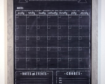 "custom dry-erase calendar/menu board size 18"" x 24"""