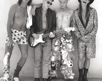 Vintage Red Hot Chili Peppers Photograph  Hollywood, CA 1989