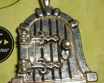 Sale Pendant/Medallion elf or Hobbit Door (Burgtüre)-Altsilbern-26x34mm-was Euro 7.50