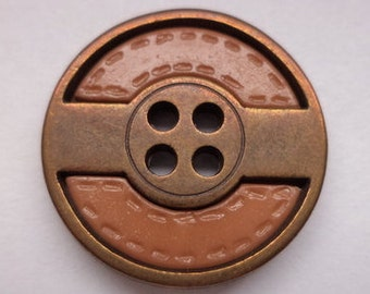 12 Brown buttons 20mm (2048) button
