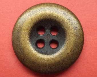 6 metal buttons bronze 20 mm (982) buttons metal knob