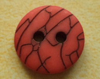12 small red buttons 13mm (4172) button