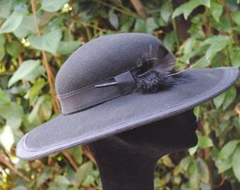 Black felt  hat 1980