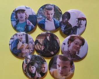 Stranger Things pin pins fan buttons 2-1/4 inch pinback button pingame badge badges