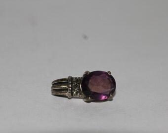 Beautiful 925 sterling silver purple pendant