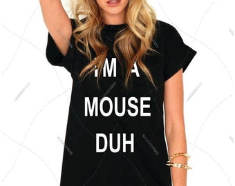 "Unisex - Premium Classic Tee ""I'm a Mouse Duh"" Halloween Fashion Crew-neck Tee, T-Shirt, Mean Girls (S,M, L, XL, 2XL, 3XL+)"