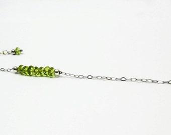 Peridot - 925 silver bracelet