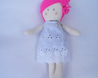 Gloria - Handmade cloth doll- fabric doll- rag doll