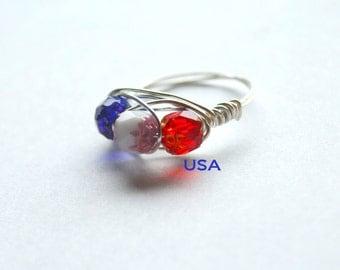 USA Patriotic Ring