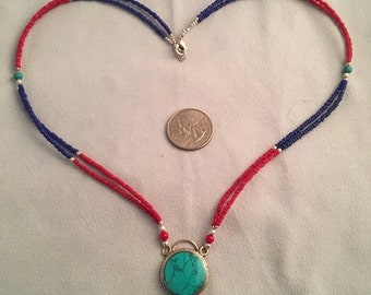 Beautiful Lapis and Turquoise Necklace