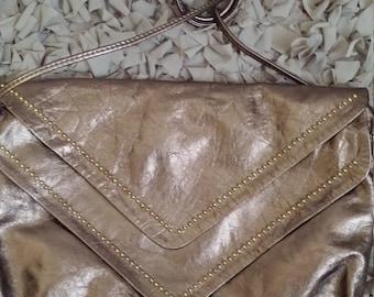 Suede embellished shoulder bag