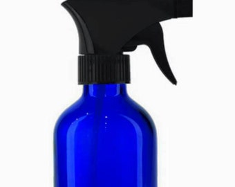 Cobalt Blue Glass Trigger Spray Bottle 4 oz