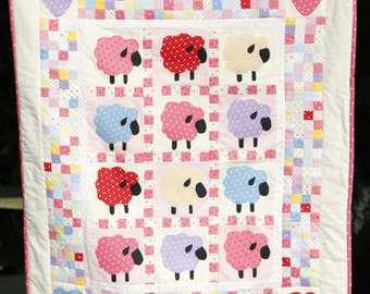 Items Similar To Wooly Sheep Quilt Pattern Pdf Wall
