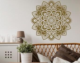 mandala decal wall stickers vinyl wall decals for bedroom mandala wall decor yoga