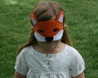 Children's Felt Fox Mask