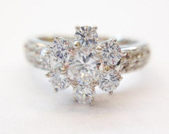 18k White Gold with Cubic Zirconia