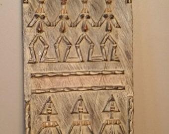 Vintage Handmade Wall Carving