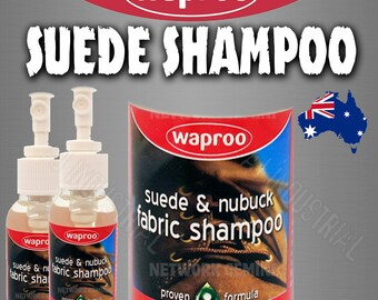 Waproo Suede & Nubuck Fabric Shampoo Cleaner to remove dirt and stains
