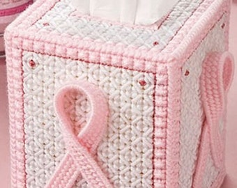 New Innovative Pink Ribbon Plastic Canvas Embroidery Kit