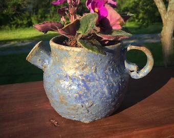 Rustic Teapot Planter