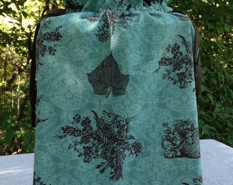 Green and Brown Autumn Fabric Gift Bag - Medium