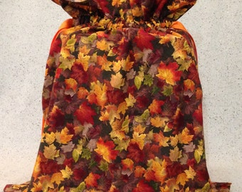 Autumn Leaves Fabric Gift Bag - Large
