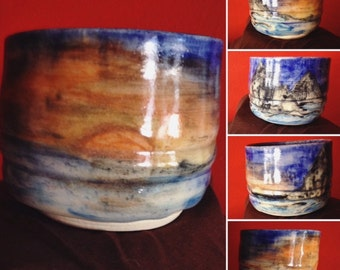 Watercolor Ceramic Cup
