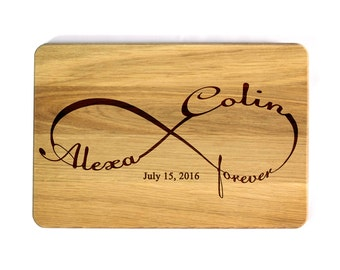 Wedding gift Cutting board Infinity Wedding Cutting Board Personalized Cutting Board Gifts for newlyweds Wedding Gift for couple custom gift