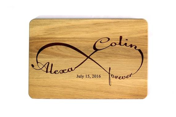 Wedding Gift Cutting Board: Wedding Gift Cutting Board Infinity Wedding Cutting Board