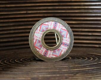 Belt Buckle – Etnic print belt buckle - Interchangeable Belt Buckle – Patern belt buckle – Donut shape belt buckle - DNT-LNE-004