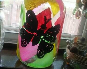 Tape painted Jar