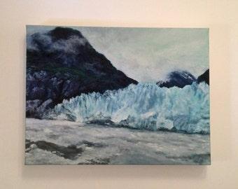 Original Acrylic Painting, Columbia, FREE DOMESTIC SHIPPING