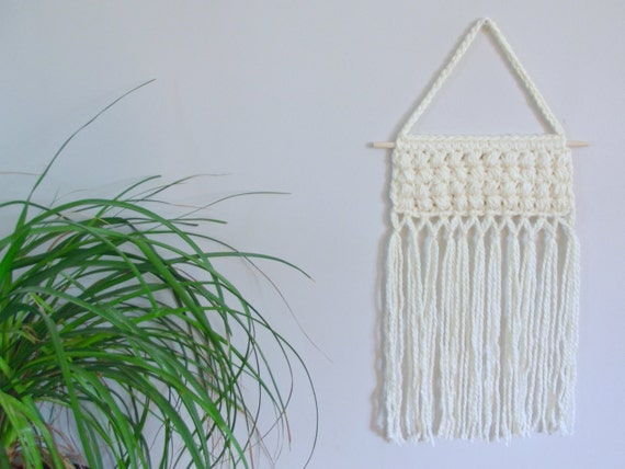 Crochet Wall Hanging : Crochet Wall Hanging Cream Wall Hanging Crochet Wall Decor Gender ...
