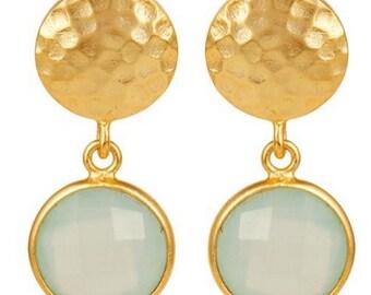 Silver Earrings Gold Plated Drop dangle earrings