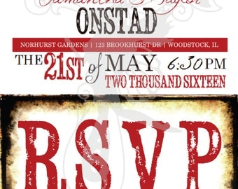 Country Wedding RSVP - Rustic Western RSVP