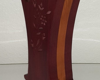 Purple heart and cherry Vase