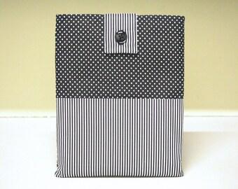 Tablet Sleeve Case Stripes Dots Black White Ipad