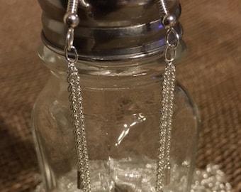 Chain Reaction Sterling Silver Earrings