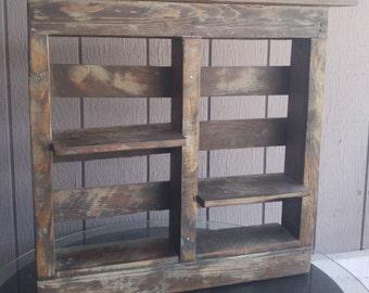 Custom Hand Built Wood Vintage Wall Decor