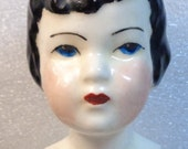 SALE *** Vintage Doll for Parts Antique Doll Old Porcelain Handpainted Doll Face With Torso Doll Parts