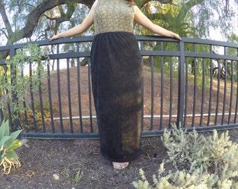 HIGH Waisted Long Suede Skirt