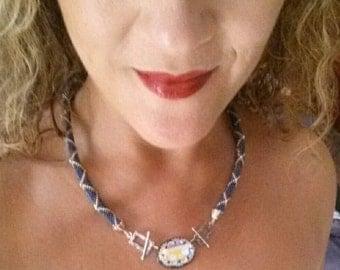 Necklace hook delicas and Swarosvki Crystal
