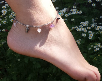 Colorful Stone and Charmed Anklet